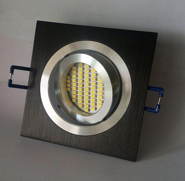 Oprawa Regulowana Odlew Aluminiowy Czarna Kwadrat Led 230 V