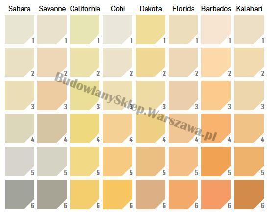 Tynki Ceresit pełny Silkon CT74 wzornik kolorów SAND