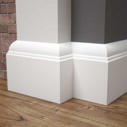 Listwa przypodłogowa MDF biała SKCM7, 10x1,6x244cm lakierowana wilgocioodporna, cena za mb.