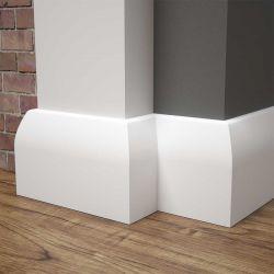 Listwa przypodłogowa MDF biała SKCM2, 10x1,6x244cm lakierowana wilgocioodporna, cena za mb.