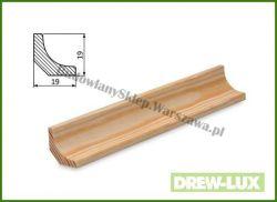 Listwa przypodłogowa sosna bezsęczna SKS1919W/340 - szer. 19mm x wys. 19mm, cena za mb