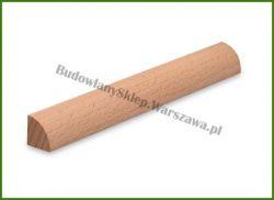 Ćwierćwałek listwa przypodłogowa bukowa bezsęczna  SKB1616  szer. 16mm x wys. 16mm, cena za mb