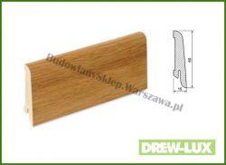 Listwa przypodłogowa okleinowana fornirem dębowym  SKDBA6014/87,5 - szer. 15mm x wys. 60mm, cena za mb