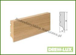 Listwa przypodłogowa MDF okleinowana fornirem dębowym  SKWDF34/33,8 - szer. 16mm x wys. 60mm, cena za mb