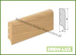 Listwa przypodłogowa MDF okleinowana fornirem dębowym  SKWDF35/33,8 - szer. 16mm x wys. 60mm, cena za mb