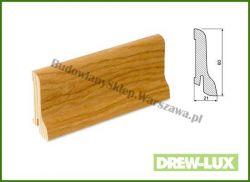 Listwa przypodłogowa okleinowana fornirem dębowym  SKDBA6022/77,5 - szer. 22mm x wys. 60mm, cena za mb