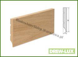 Listwa przypodłogowa MDF okleinowana fornirem dębowym  SKWDF3/41,6 - szer. 16mm x wys. 80mm, cena za mb