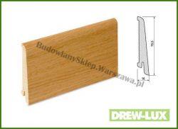 Listwa przypodłogowa okleinowana fornirem dębowym  SKDBA8016/67,5 - szer. 16mm x wys. 78,5mm, cena za mb