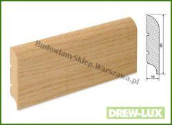 Listwa przypodłogowa MDF okleinowana fornirem dębowym  WDF15/26 - szer. 16mm x wys. 80mm, cena za mb