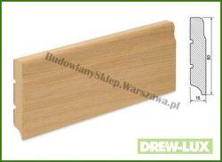 Listwa przypodłogowa MDF okleinowana fornirem dębowym  SKWDF21/26 - szer. 16mm x wys. 80mm, cena za mb