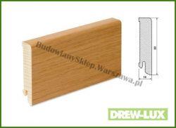 Listwa przypodłogowa okleinowana fornirem dębowym  SKDBA8018/32,5 - szer. 18mm x wys. 80mm, cena za mb