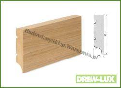 Listwa przypodłogowa MDF okleinowana fornirem dębowym  SKWDF36/23,4 - szer. 19mm x wys. 80mm, cena za mb