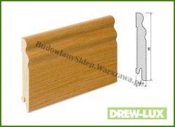 Listwa przypodłogowa okleinowana fornirem dębowym  SKDBA100/35- szer. 14,5mm x wys. 95mm, cena za mb
