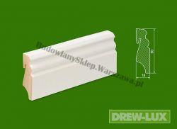Cokół drewniany biały- lakierowany SKWL5818/60 - szer. 18mm x wys. 58mm, cena za mb