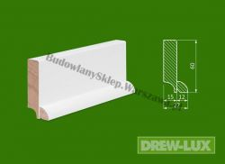Cokół drewniany biały- lakierowany SKWH6027/43,2 - szer. 27mm x wys. 60mm, cena za mb