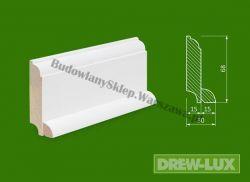 Cokół drewniany biały- lakierowany SKWH6830/36- szer. 30mm x wys. 68mm, cena za mb