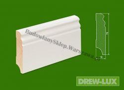 Cokół drewniany biały- lakierowany SKWL7818F/45,6- szer. 18mm x wys. 78mm, cena za mb