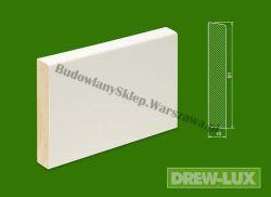 Cokół drewniany biały- lakierowany SKWL9115/36/2,25- szer.  15mm x wys. 91mm, cena za mb