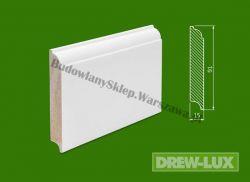 Cokół drewniany biały- lakierowany SKWH9115/43,2 - szer. 15mm x wys. 91mm, cena za mb