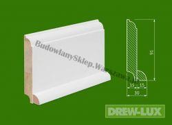 Cokół drewniany biały- lakierowany SK WH9130/38,4- szer. 30mm x wys. 91mm, cena za mb