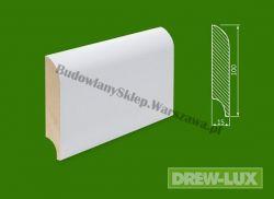 Cokół drewniany biały- lakierowany SKWH10015P/43,2- szer. 15mm x wys. 100mm, cena za mb