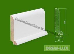 Cokół drewniany biały- lakierowany SKWH10027P/38,4 - szer. 27mm x wys. 100mm, cena za mb