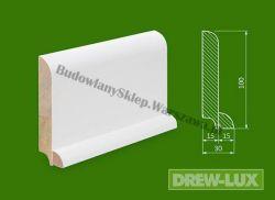 Cokół drewniany biały- lakierowany SKWH10030P/38,4 - szer. 30mm x wys. 100mm, cena za mb