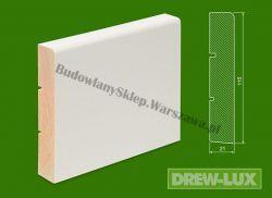 Cokół drewniany biały- lakierowany SKWL11521/16,8 - szer. 21mm x wys. 115mm, cena za mb