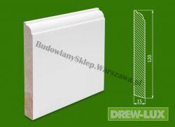 Cokół drewniany biały- lakierowany SKWH12015/36 - szer. 15mm x wys. 120mm, cena za mb