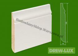 Cokół drewniany biały- lakierowany SKWH120F/36 - szer. 15mm x wys. 120mm, cena za mb