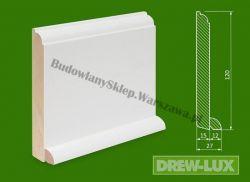 Cokół drewniany biały- lakierowany SKWH12027/31,2 - szer. 27mm x wys. 120mm, cena za mb