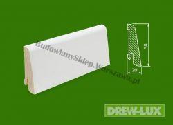 Cokół drewniany biały- lakierowany SKWBA5820/57,5 - szer. 20mm x wys. 58mm, cena za mb