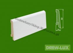 Cokół drewniany biały- lakierowany SKWBA6014/87,5  - szer. 14mm x wys. 60mm, cena za mb