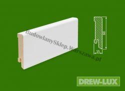 Cokół drewniany biały- lakierowany SKWBA6016/57,5  - szer. 15mm x wys. 60mm, cena za mb