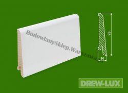 Cokół drewniany biały- lakierowany SKWBA8016/57,5 - szer. 16mm x wys. 79mm, cena za mb