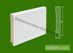 Cokół drewniany biały- lakierowany SKWBA9515/32,5 - szer. 15mm x wys. 95mm, cena za mb
