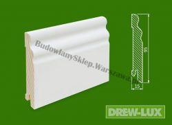 Cokół drewniany biały- lakierowany SKWBA100/32,5- szer. 15mm x wys. 95mm, cena za mb