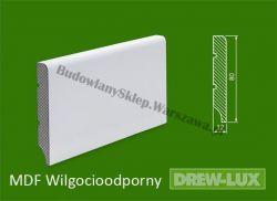 Cokół MDF lakierowany wilgocioodporny biały SKWD2/39,3PLUS - szer. 12mm x wys. 80mm, R1, cena za mb