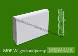 Cokół MDF lakierowany wilgocioodporny biały SKWD14/26,2PLUS  - szer. 16mm x wys. 80mm, R1, cena za mb