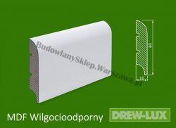 Cokół MDF lakierowany wilgocioodporny biały SKWD15/26,2PLUS - szer. 16mm x wys. 80mm, R1, cena za mb