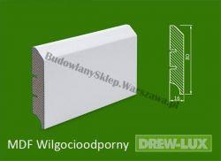 Cokół MDF lakierowany wilgocioodporny biały SKWD17/26,2PLUS - szer. 16mm x wys. 80mm, R1, cena za mb