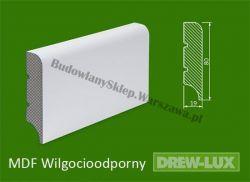 Cokół MDF lakierowany wilgocioodporny biały SKWD37/23,58PLUS - szer. 19mm x wys. 80mm, R1, cena za mb