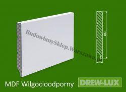 Cokół MDF lakierowany wilgocioodporny biały SKWD4/28,82PLUS - szer. 12mm x wys. 100mm, R1, cena za mb