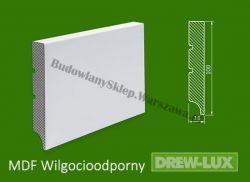 Cokół MDF lakierowany wilgocioodporny biały SKWD8/20,96PLUS - szer. 16mm x wys. 100mm, R1, cena za mb