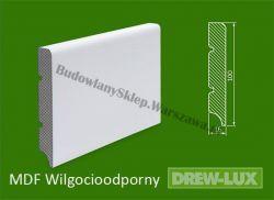 Cokół MDF lakierowany wilgocioodporny biały SWD7/20,96PLUS- szer. 16mm x wys. 100mm, R1, cena za mb