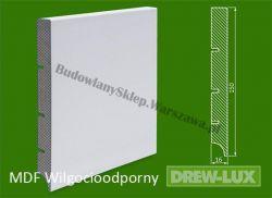 Cokół MDF lakierowany wilgocioodporny biały SK - szer. 16mm x wys. 150mm, R1, cena za mb