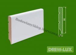 Cokół MDF lakierowany biały SKWD2/39,3 - szer. 12mm x wys. 80mm, R1, cena za mb