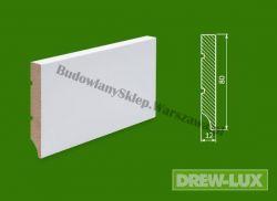 Cokół MDF lakierowany biały SKWD3/39,3- szer. 12mm x wys. 80mm, R1, cena za mb