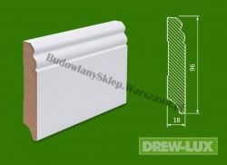 Cokół MDF lakierowany biały SKWS1996/31,2 - szer. 18mm x wys. 96mm, cena za mb