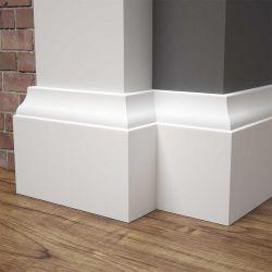 Listwa przypodłogowa MDF biała SKCM35, 8x1,6x244cm lakierowana wilgocioodporna, cena za mb.